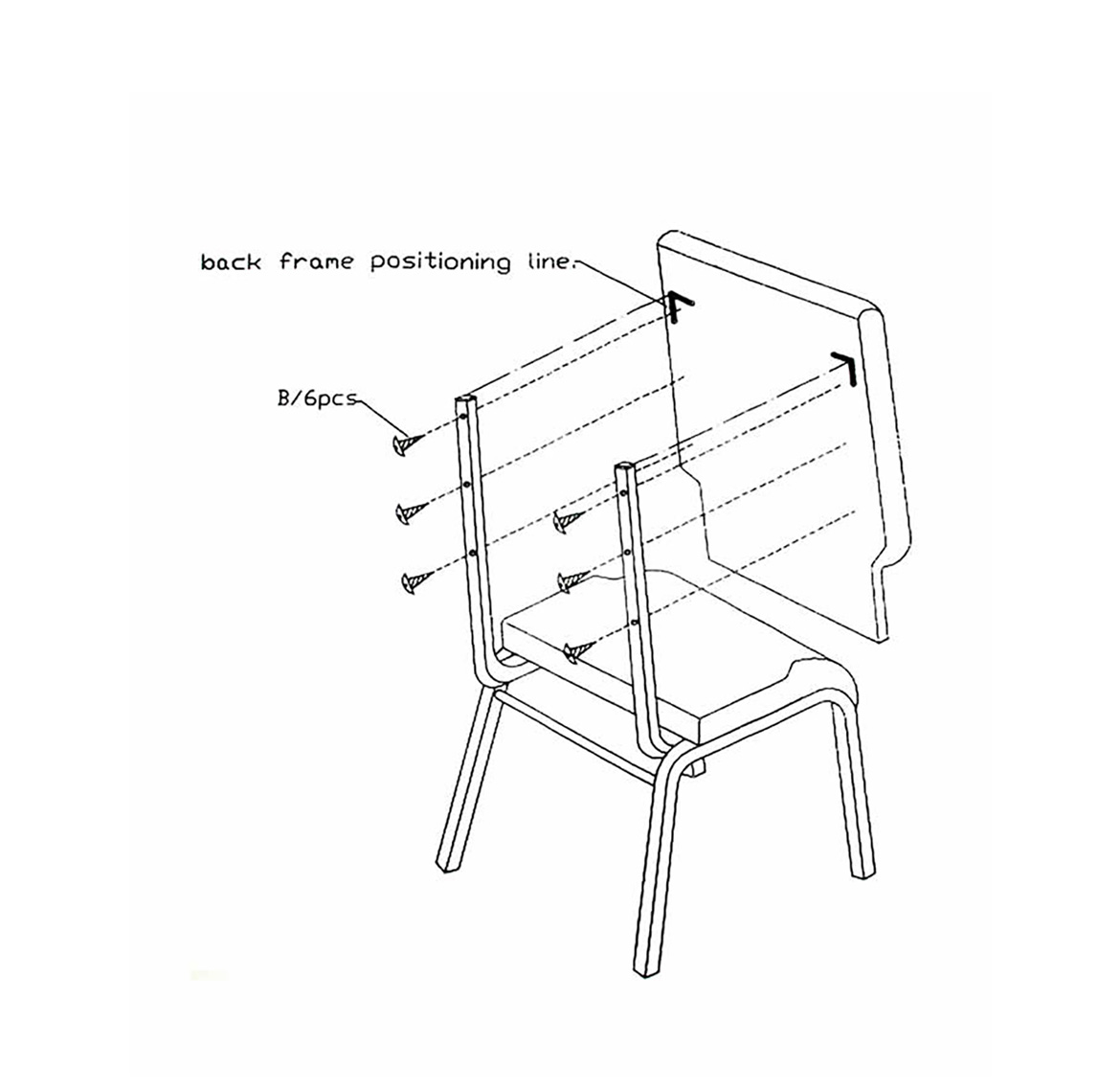 Assembly Diagram - XPI Chairs